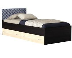 Кровать с ящиками и матрасом ГОСТ Виктория-П (90х200) фото