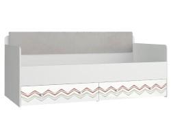 Кровать с мягким элементом Модерн - Абрис (90х190) фото