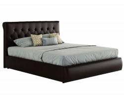 Мягкая кровать с ПМ и матрасом Амели (140х200) фото