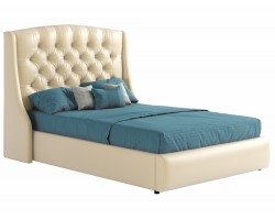 Мягкая кровать с основанием и матрасом Стефани (140х200) фото