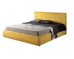 """Мягкая кровать """"Selesta"""" 1400 желтая с матрасом ГОСТ с фото"""