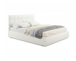 """Мягкая кровать """"Selesta"""" 1400 беж с матрасом ГОСТ с по фото"""
