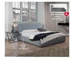 """Мягкая кровать """"Selesta"""" 1600 серая с подъемным механи фото"""