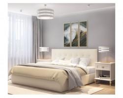 """Мягкая кровать """"Selesta"""" 1600 беж с матрасом ГОСТ с по фото"""