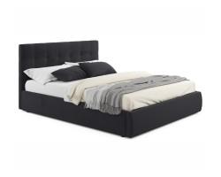 """Мягкая кровать """"Selesta"""" 1600 темная с матрасом ГОСТ с фото"""