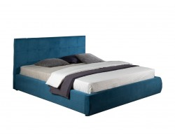 """Мягкая кровать """"Selesta"""" 1600 синяя с матрасом PROMO B фото"""
