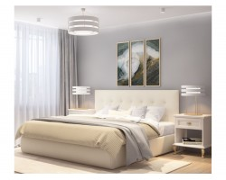 """Мягкая кровать """"Selesta"""" 1600 беж с матрасом PROMO B C фото"""