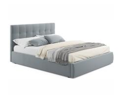 """Мягкая кровать """"Selesta"""" 1600 серая с матрасо АСТРА с фото"""