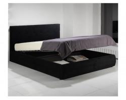"""Мягкая кровать """"Selesta"""" 1800 темная с матрасом ГОСТ с фото"""