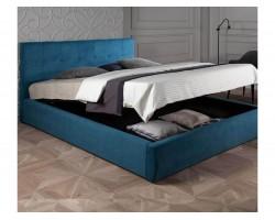 """Мягкая кровать """"Selesta"""" 1800 синяя с матрасом PROMO B фото"""