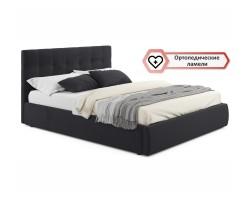 """Мягкая кровать """"Selesta"""" 1600 темная с ортопед.основан фото"""