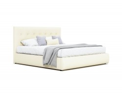 """Мягкая кровать """"Selesta"""" 1600 беж с ортопед.основанием фото"""