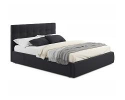 """Мягкая кровать """"Selesta"""" 1800 темная с ортопед.основан фото"""