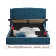 """Мягкая кровать """"Stefani"""" 1400 синяя с подъемным механи распродажа"""