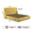 """Мягкая кровать """"Stefani"""" 1600 желтая с подъемным механ недорого"""