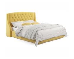 """Мягкая кровать """"Stefani"""" 1600 желтая с подъемным механ фото"""
