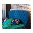 """Мягкая кровать """"Stefani"""" 1800 синяя с подъемным механи купить"""