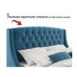 """Мягкая кровать """"Stefani"""" 1800 синяя с подъемным механи от производителя"""