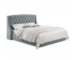 """Мягкая кровать """"Stefani"""" 1800 серая с подъемным механи фото"""