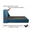 """Мягкая кровать """"Stefani"""" 1600 синяя с ортопед. основан недорого"""