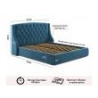 """Мягкая кровать """"Stefani"""" 1800 синяя с ортопед. основан от производителя"""