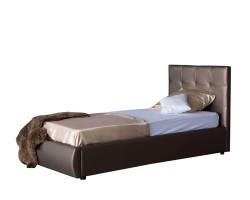 Мягкая кровать Селеста 900 мокко с ортопед.основанием фото