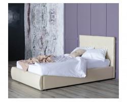 Мягкая кровать Селеста 1200 беж с подъемным механизмом с матрасо фото