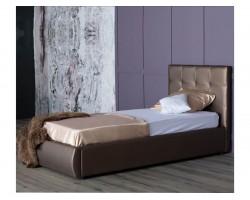 Мягкая кровать Селеста 900 мокко с ортопед.основанием с матрасом фото