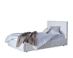 Мягкая кровать Селеста 1200 белая с подъемным механизмом с фото