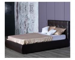 Мягкая кровать Селеста 1200 венге с ортопед.основанием с матрасо фото