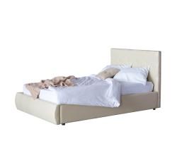Мягкая кровать Селеста 1200 беж с ортопед.основанием с матрасом  фото