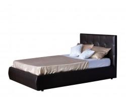 Мягкая кровать Селеста 1200 венге с подъемным механизмом с фото