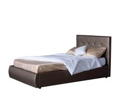 Мягкая кровать Селеста 1200 мокко с подъемным механизмом с фото