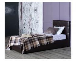 Мягкая кровать Селеста 900 венге с ортопед.основанием с матрасом фото