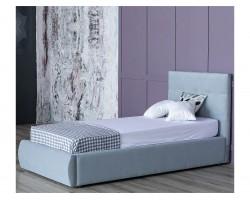Мягкая кровать Selesta 900 серая с подъемным механизмом с матрас фото