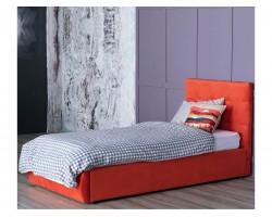 Мягкая кровать Selesta 900 оранж с подъемным механизмом с матрас фото