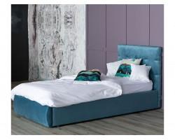 Мягкая кровать Selesta 900 синяя с подъемным механизмом с матрас фото