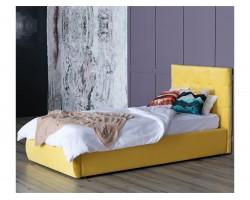 Мягкая кровать Selesta 900 желтая с подъемным механизмом с матра фото