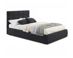 Мягкая кровать Selesta 1200 темная с подъемным механизмом с матр фото