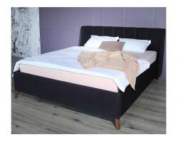 Мягкая кровать Betsi 1600 темная с подъемным механизмом фото