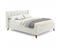 Мягкая кровать Betsi 1600 беж с подъемным механизмом и матрасом  фото