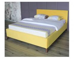 Мягкая кровать Monika 1600 желтая ортопед.основание с матрасом P фото