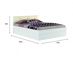 """Белая кровать """"Николь ЭКО-П"""" 1400 с подъемным механизм фото"""