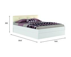 """Белая двуспальная кровать """"Николь ЭКО-П"""" 1600 с подъем фото"""