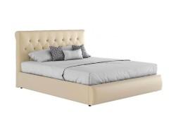 """Мягкая светлая интерьерная кровать """"Амели"""" с подъемным фото"""