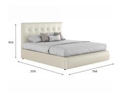 """Мягкая белая интерьерная кровать """"Селеста"""" с подъемным фото"""