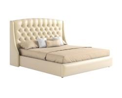 """Мягкая двуспальная кровать """"Стефани"""" 160 с орт.основан фото"""