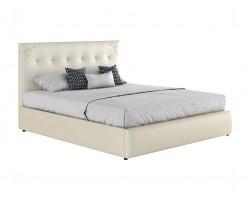 """Мягкая кровать """"Селеста Ангел"""" 1600 белая с орт.основа фото"""