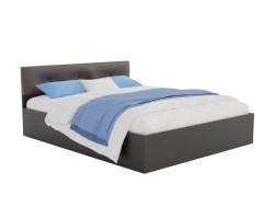 Кровать Виктория ЭКО-П 180 (Венге/Венге) темная с матрасом ГОСТ фото