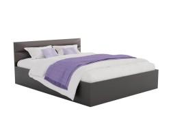 Кровать Виктория-МБ 160 (Венге/Венге) темная с матрасом ГОСТ фото